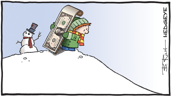 Cartoon of the Day: Downhill From Here - 12.27.2019 down dollar cartoon