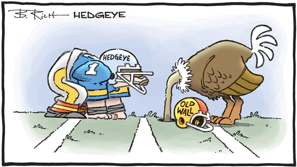 Cartoon of the Day: Line Of Scrimmage  - 01.09.2020 Hedgeye v old wall cartoon