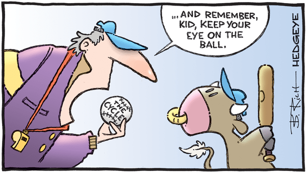 Cartoon of the Day: Batting Practice  - 01.10.2020 eye on the cycle cartoon