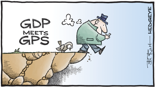Cartoon of the Day: Cliff Dive - 01.17.2020 GDP cartoon
