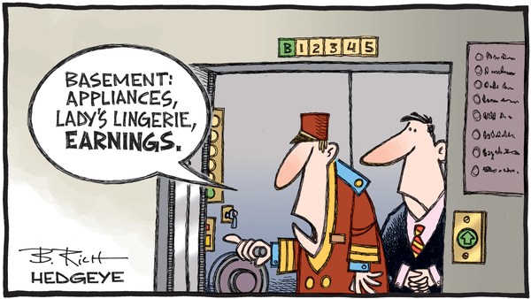 Cartoon of the Day: Going Down? - 02.06.2020 earnings elevator cartoon