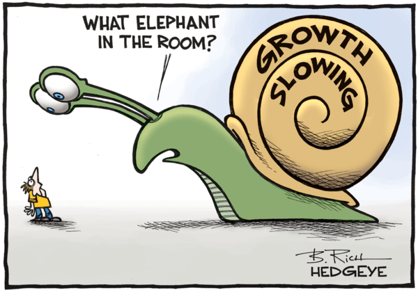 Market Euphoria, Global Slowdown - growth slowing cartoon 09.26.2016  1