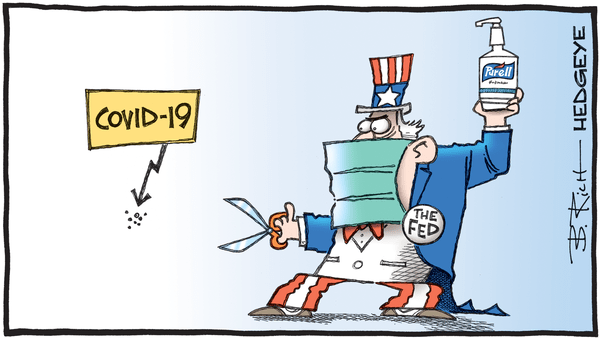 The Fed's (Irresponsible) Rate Cut Accelerated Panic - 03.03.2020 covid 19 Fed cut cartoon