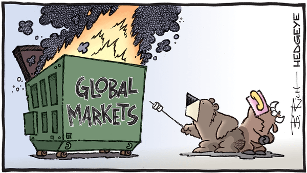 Cartoon of the Day: Dumpster Fire - 03.27.2020 global markets dumpster fire cartoon