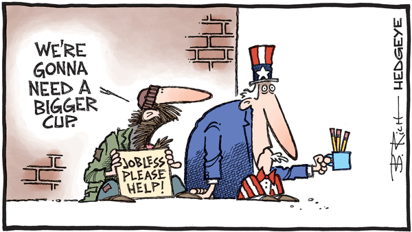 Cartoon of the Day: Please Help - 05.21.2020 jobless cartoon