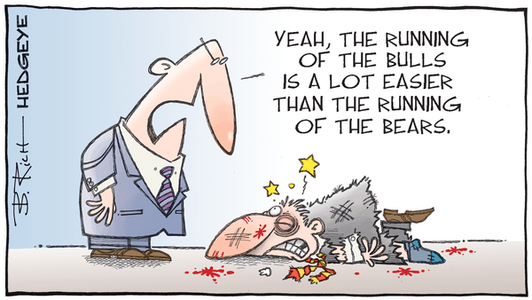 Cartoon of the Day: A Market Observation - 06.29.2020 running of the bears cartoon