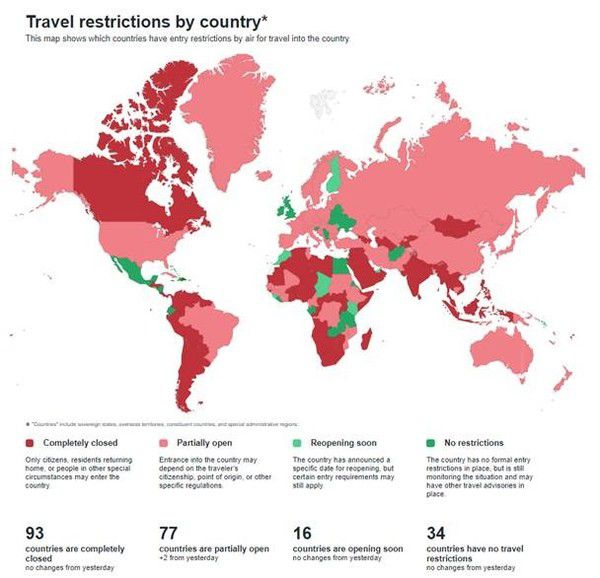 The End of Business Travel as We Know It? - map