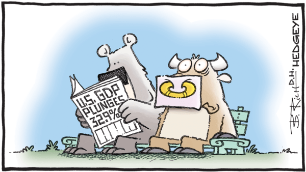 Early Look: Long Tech & Treasuries #Reiterated - 07.30.2020 GDP plunge cartoon