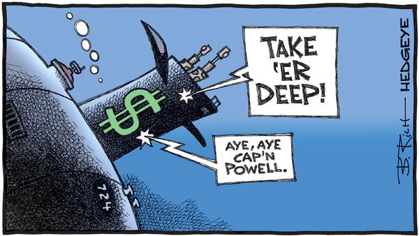 "Cartoon of the Day: ""Take 'Er Deep!"" - 08.11.2020 diving dollar cartoon"