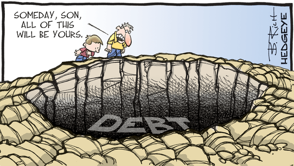Cartoon of the Day: Dig Deeper - 08.14.2020 debt cartoon