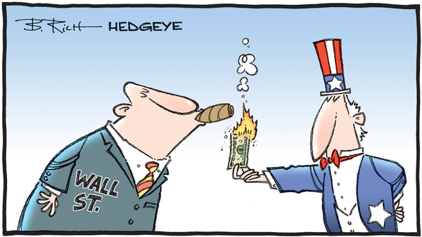 10 Tweets This Morning From Keith McCullough - 07.20.2020 burning dollar cartoon