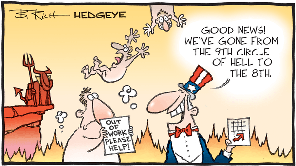 Jobless Claims Recovery Led By Firing Shortages & Expiring Eligibility  - 08.10.2020 jobless circle of hell cartoon