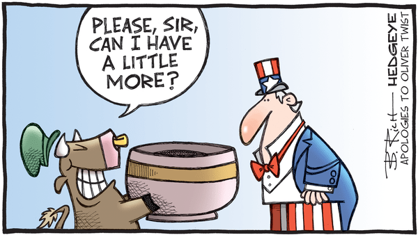 Cartoon of the Day: Bullish Twist?  - 10.07.2020 a little more cartoon