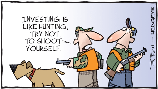 Cartoon of the Day: Hunting Advice  - 10.08.2020 investing like hunting cartoon