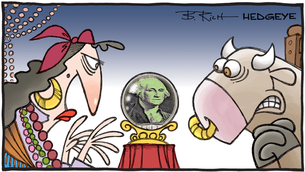 8 Tweets This Morning From Keith McCullough - 09.11.2020 dollar crystal ball cartoonFix