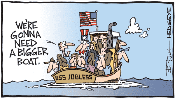 Continuing Claims Still Trending Lower For The Wrong Reasons - 07.23.2020 bigger jobless boat cartoon  1