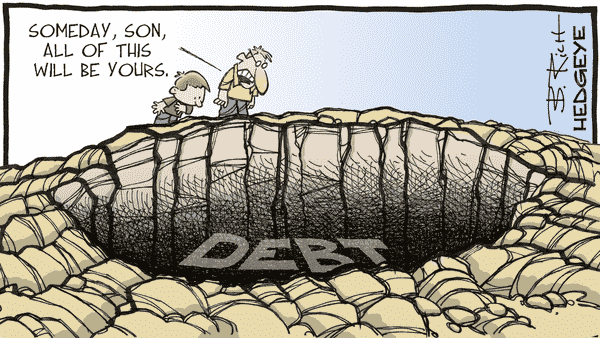 "The ""Great Reset"" And The Risk Of Greater Interventionism - 08.14.2020 debt cartoon"