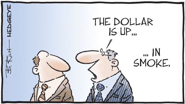 Cartoon of the Day: Up In Smoke  - 12.02.2020 dollar up in smoke cartoon