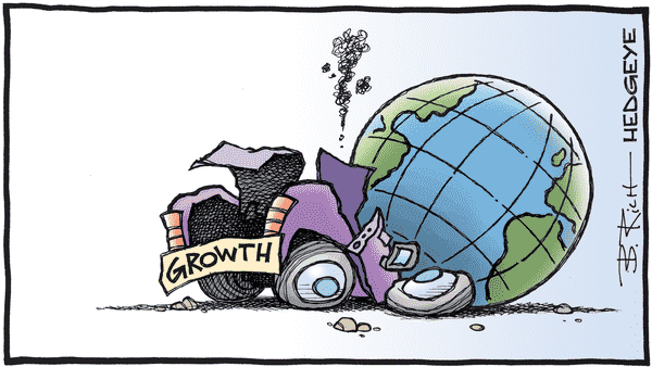 This Time Is Not Different | More Debt, Less Growth - 02.21.2019 global growth cartoon  2