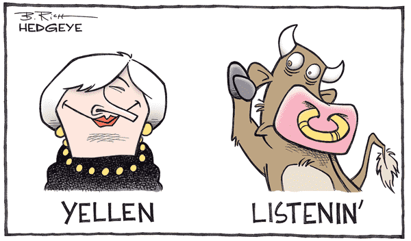 Don't Assume Dollar Market Stability - Yellen cartoon 04.06.2016