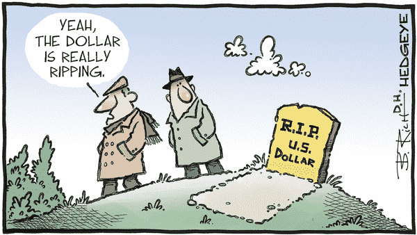 Cartoon of the Day: Tombstone - 01.19.2021 R.I.P. dollar