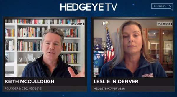 "Hedgeye Power User ""Leslie From Denver"" Joins  Keith On ""The Macro Show"" - leslie"