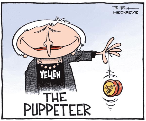 Distorcere la notte verso una crisi del debito - Yellen cartoon 03.17.2015