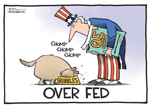 QE's Effect On Long-Term Rates Is Not Working & It Never Has  - Fed cartoon 10.24.2014