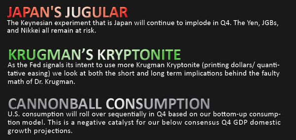 EARLY LOOK: Japan's Jugular - 0 q4 THEMES
