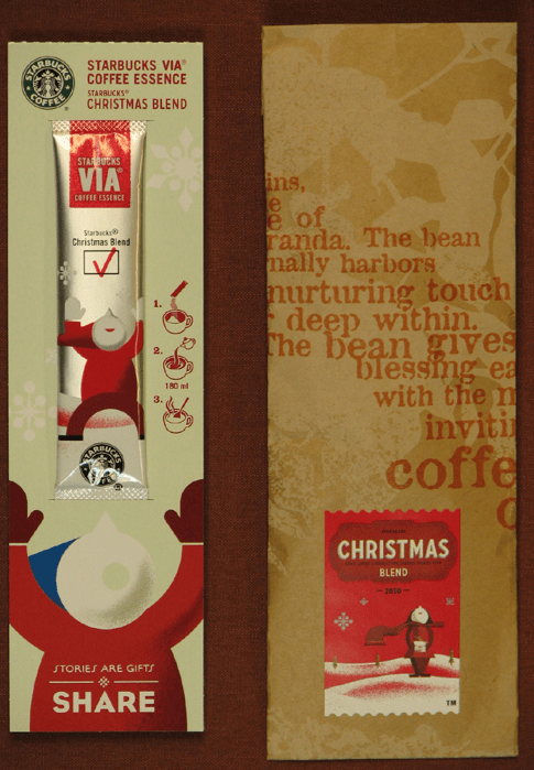 SBUX: VIA HOLIDAY CATALOG - sbux via packaging